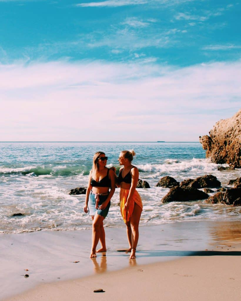 Une journée à la plage à l'américaine